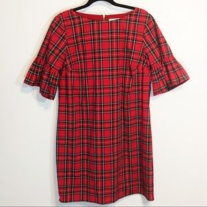 NWOT Sail to Sable red plaid dress size L